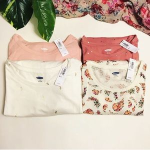 Lot of 4 Girl's Old Navy tops NEW NWT Size XL/14